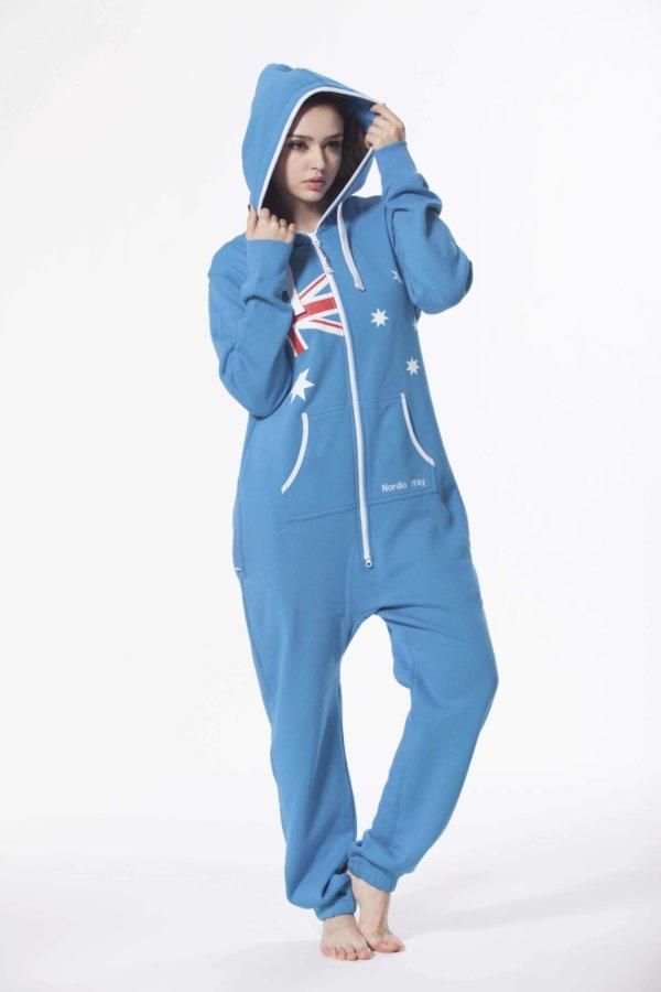 Nordic way Australia women onesie blue printed