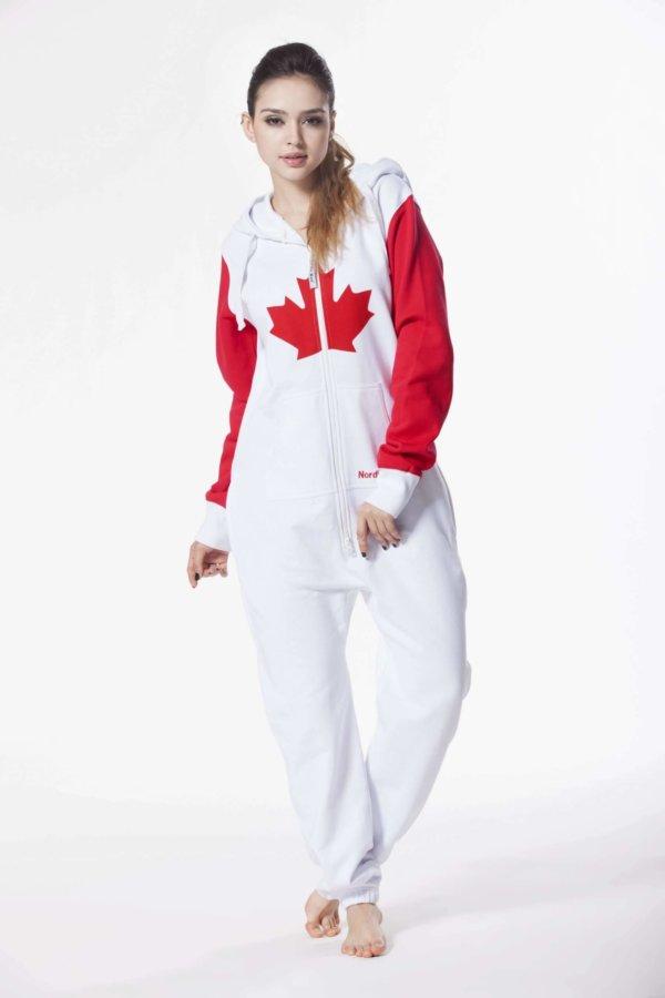 Nordic way Canada women onesie red printed