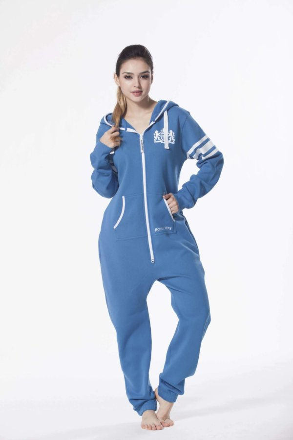 Nordic way College Blue women onesie blue printed