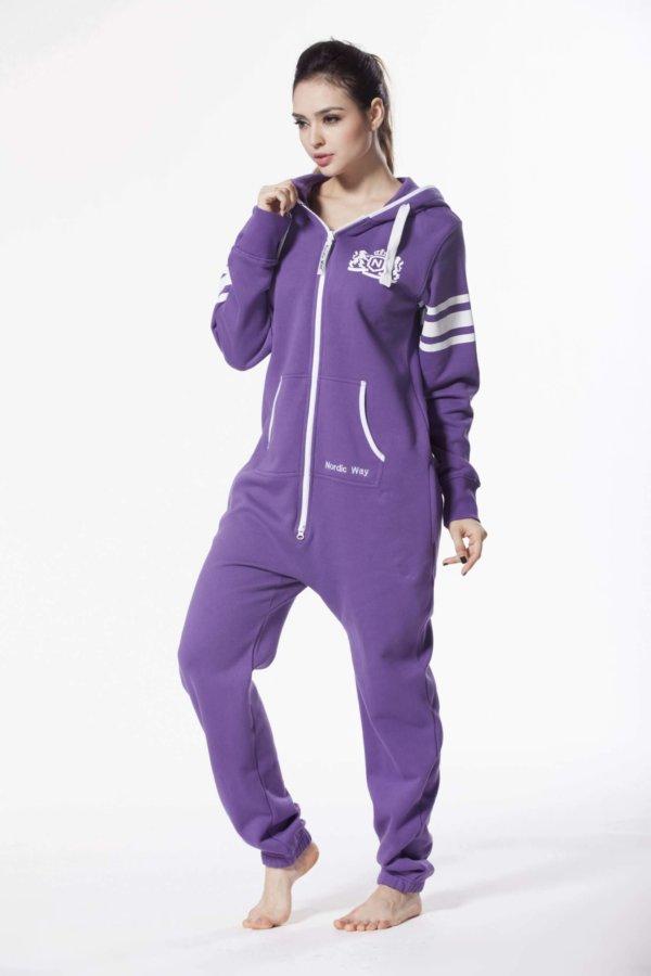 Nordic way College Purple women onesie purple printed
