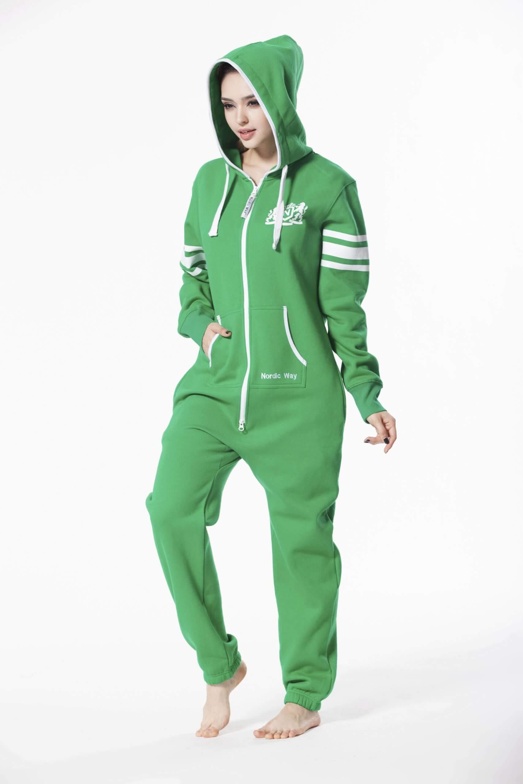 Nordic way College Green women onesie green printed