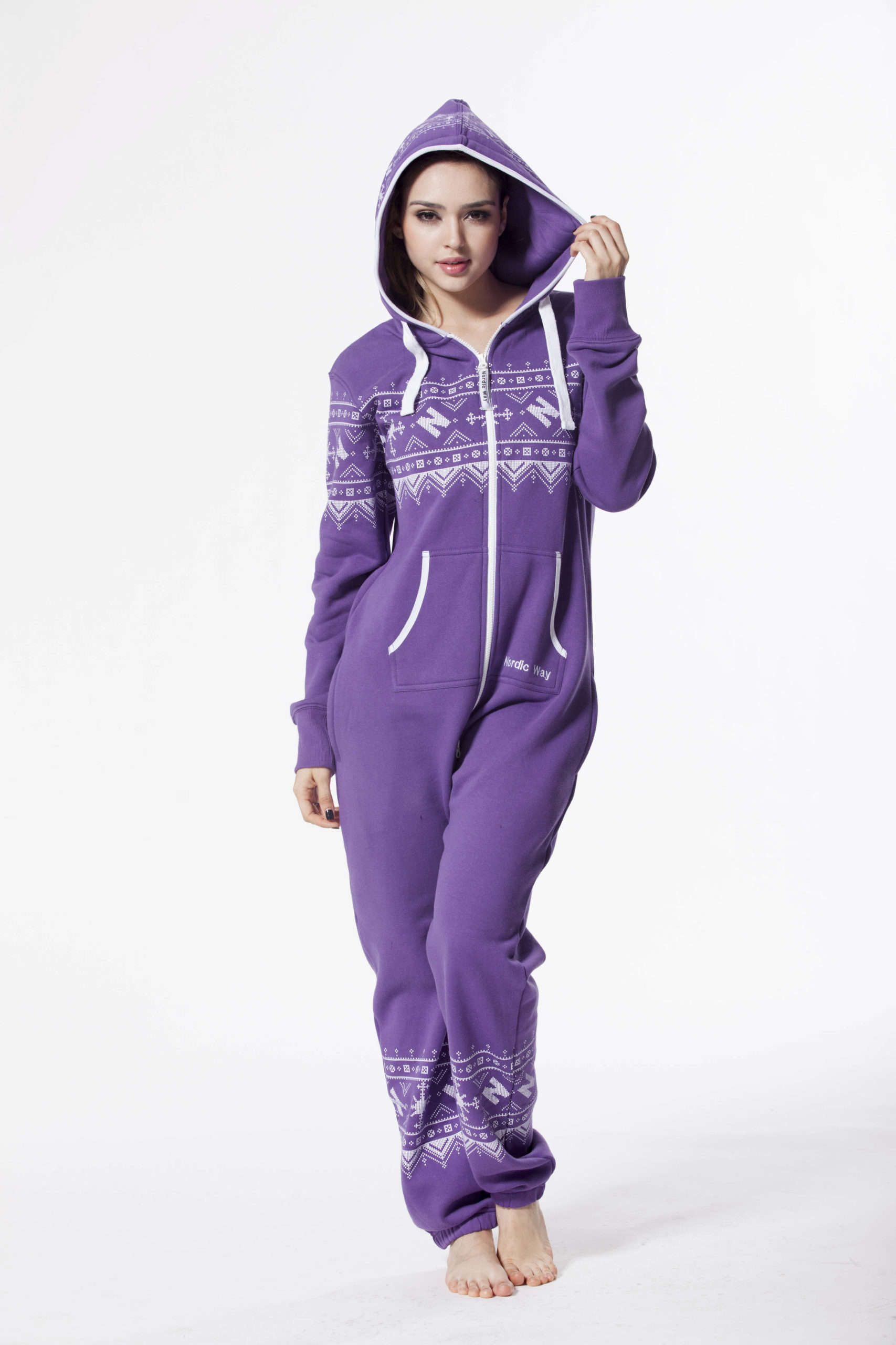 Комбинезон Winter Printed Purple