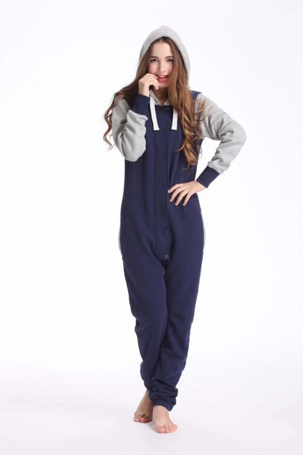 Nordic way Baseball Navy women onesie navy printed