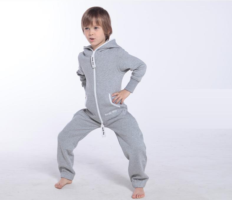 Детский комбинезон Onesie Original серый KOC10