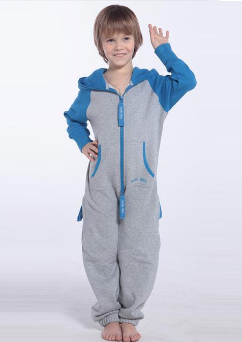 Детский комбинезон Smith серый+-синий K1701 1