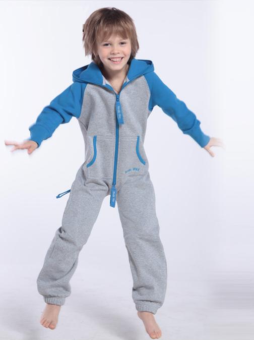 Детский комбинезон Smith серый+-синий K1701
