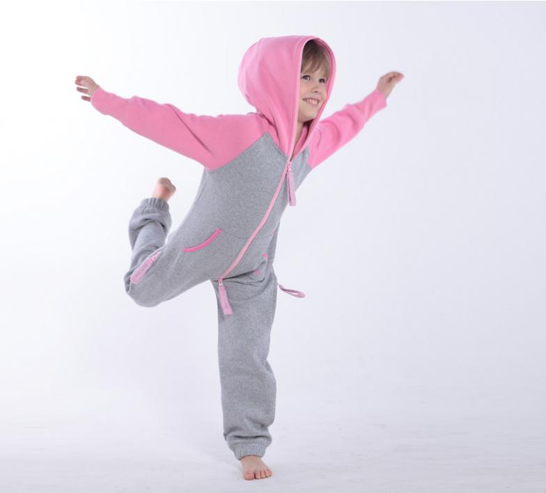 Детский комбинезон Smith серый+розовый K1703 3