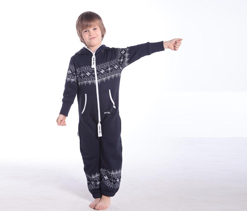Детский комбинезон Winter Print ТЕМНО-СИНИЙ K0101