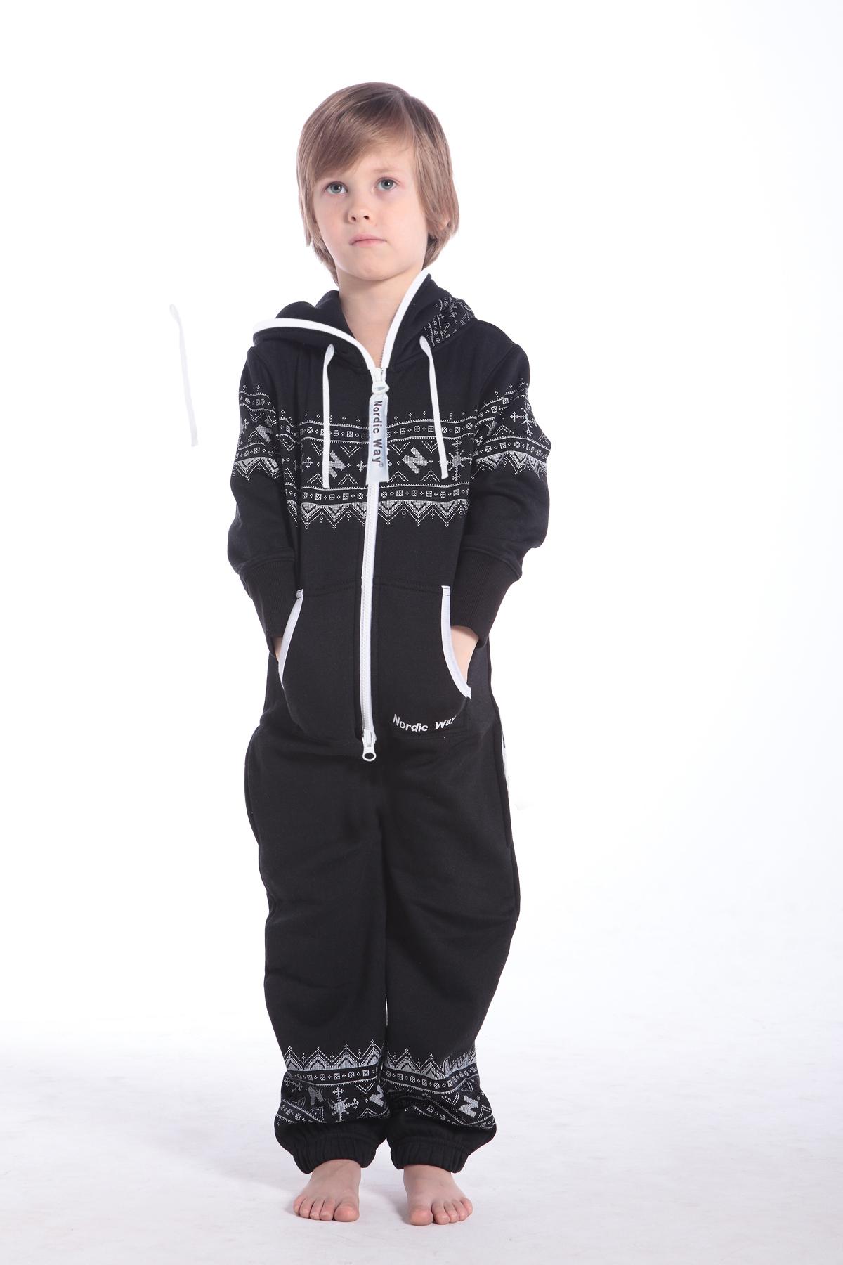 Детский комбинезон Winter Print черный K0102 (1)