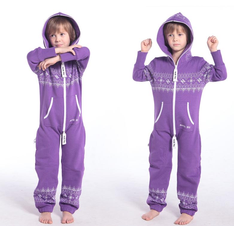 Детский комбинезон Winter Print фиолетовый K0104