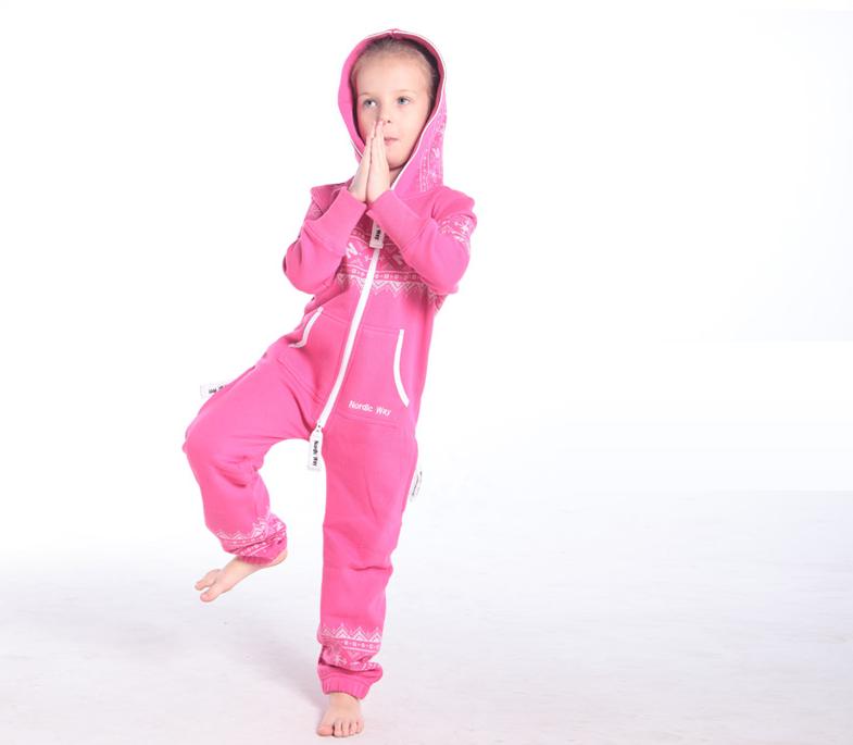 Детский комбинезон Winter Print розовый K0106