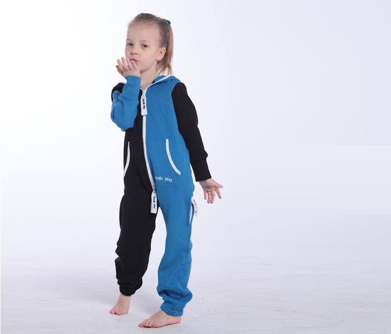 Комбинезон детский Joker черный+синий K1501 1