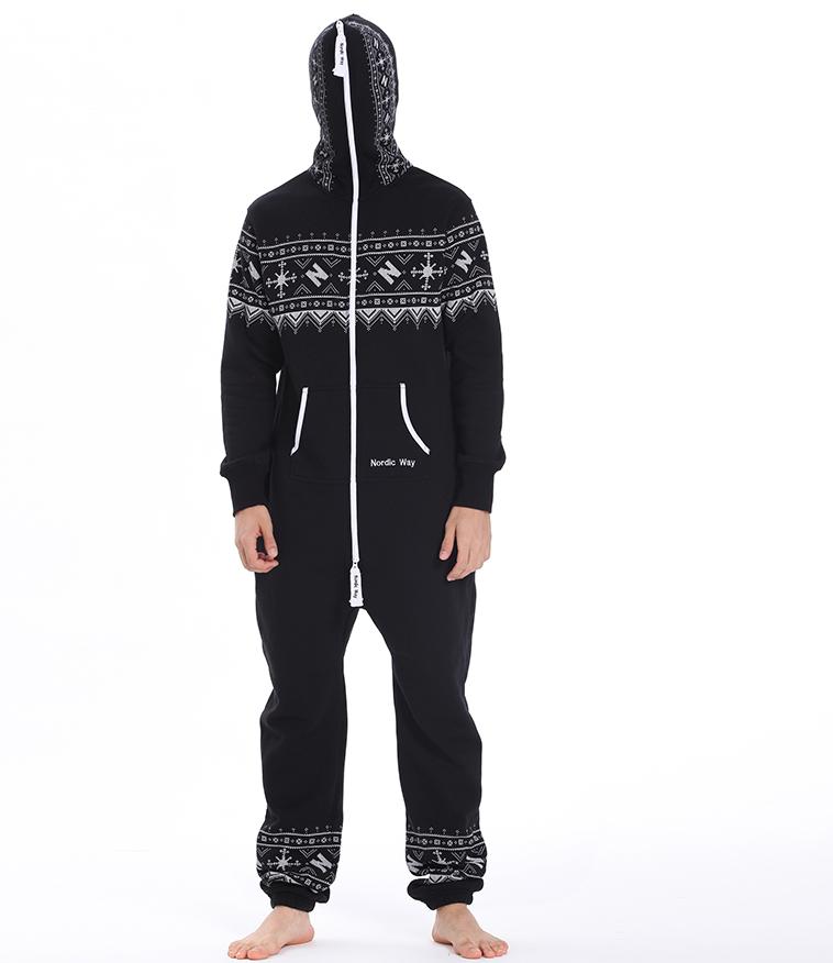 Комбинезон мужской Winter Printed черный M0102 3
