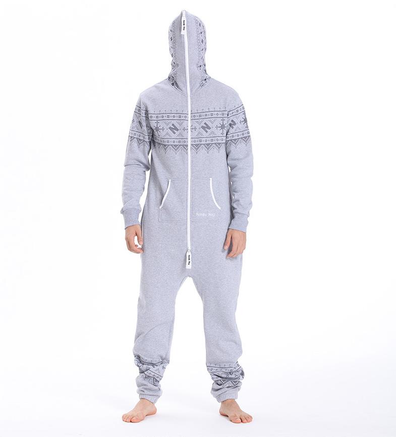 Комбинезон мужской Winter Printed серый M0103 3