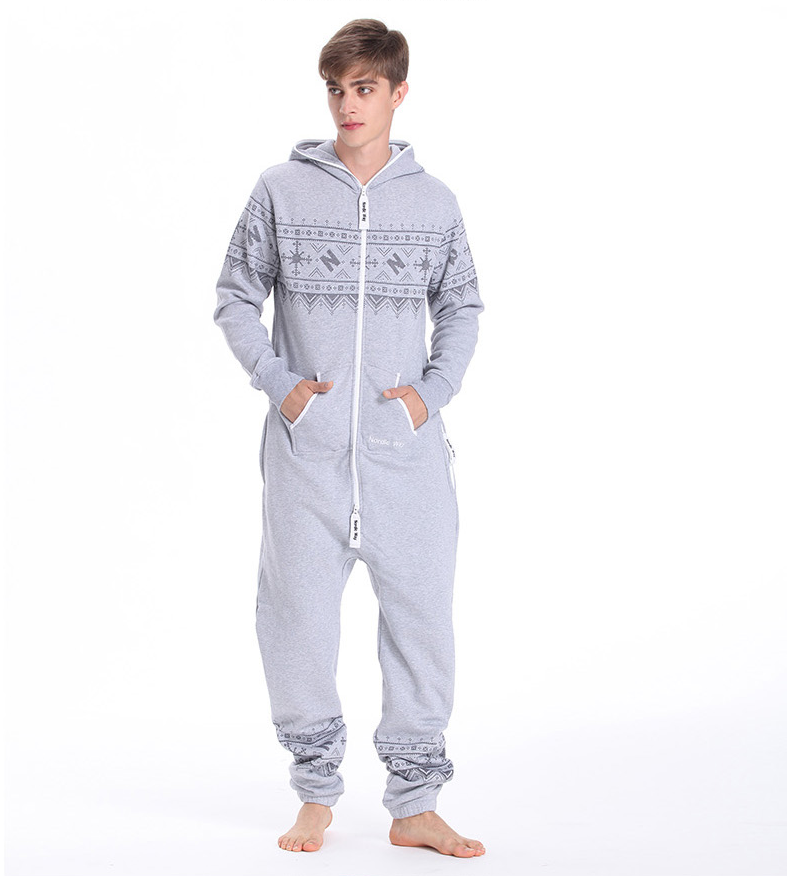 Комбинезон мужской Winter Printed серый M0103 4