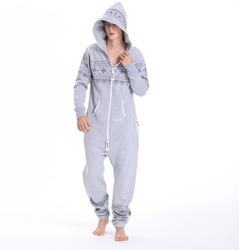 Комбинезон мужской Winter Printed серый M0103