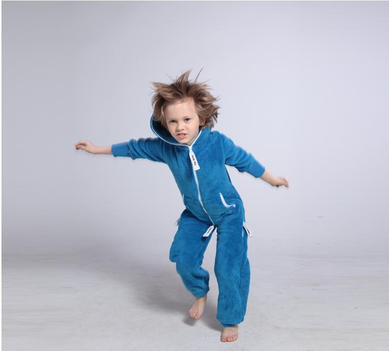 Плюшевый комбинезон детский голубой K126 2