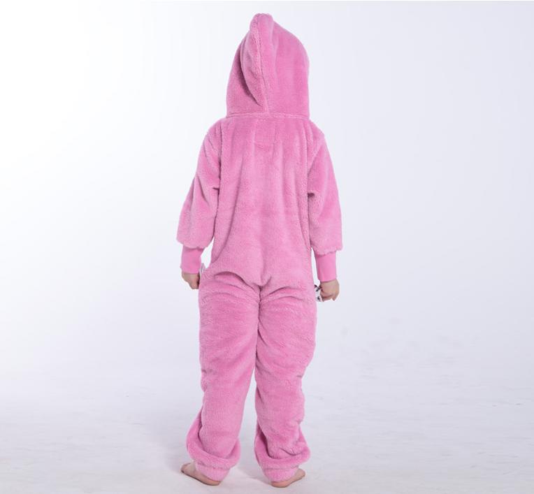 Плюшевый комбинезон детский розовый K127 3
