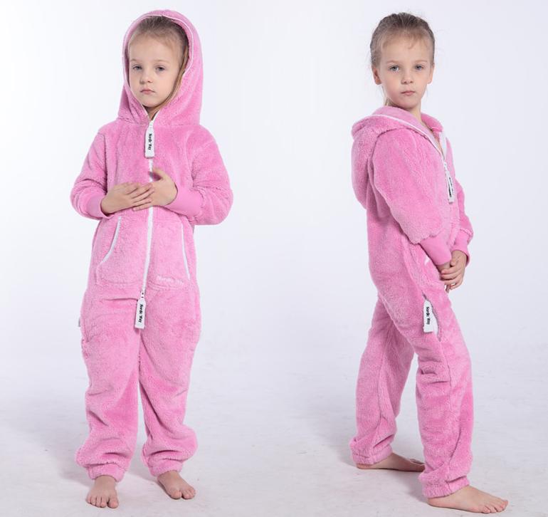 Плюшевый комбинезон детский розовый K127 4