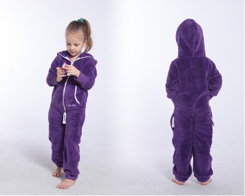 Плюшевый комбинезон фиолетовый M129 1