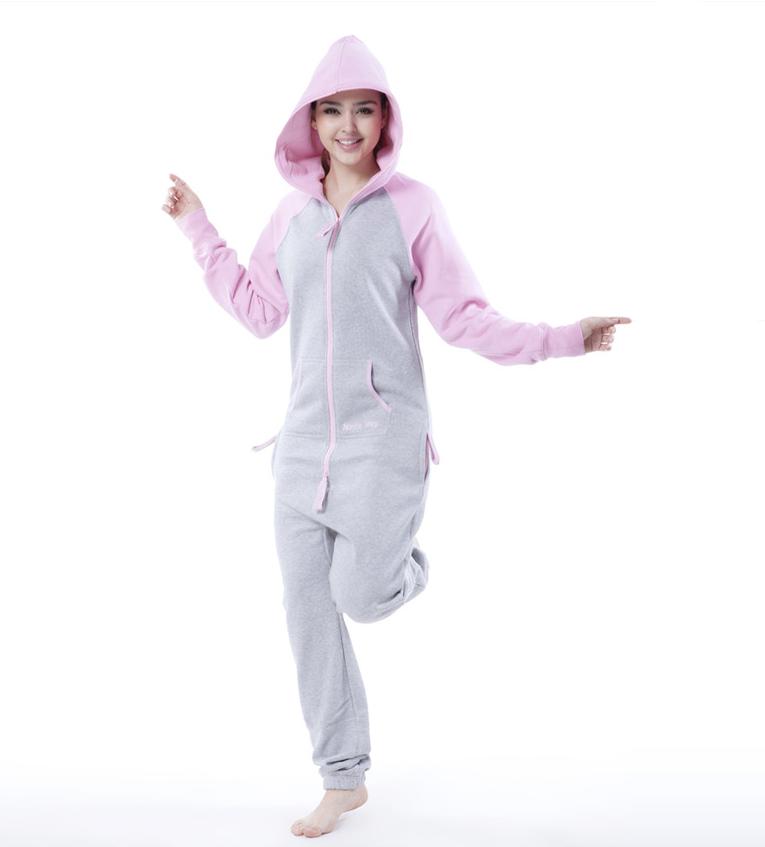 Женский комбинезон Smith серый+розовый K1703