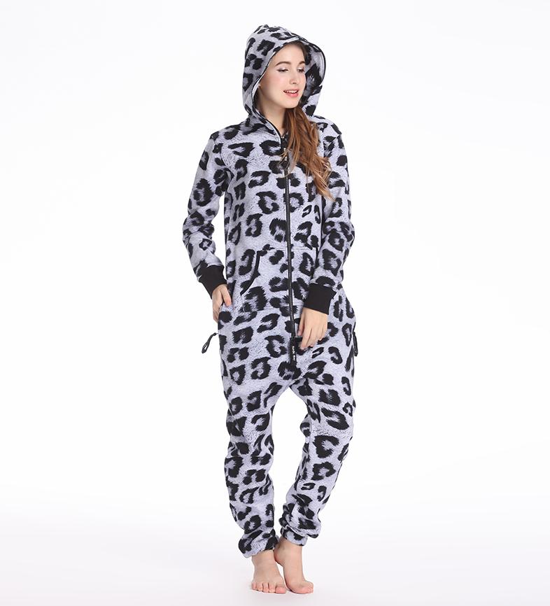 Женский комбинезон серый леопард W500 4