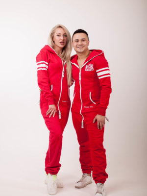 Jumpsuit Summer College Red