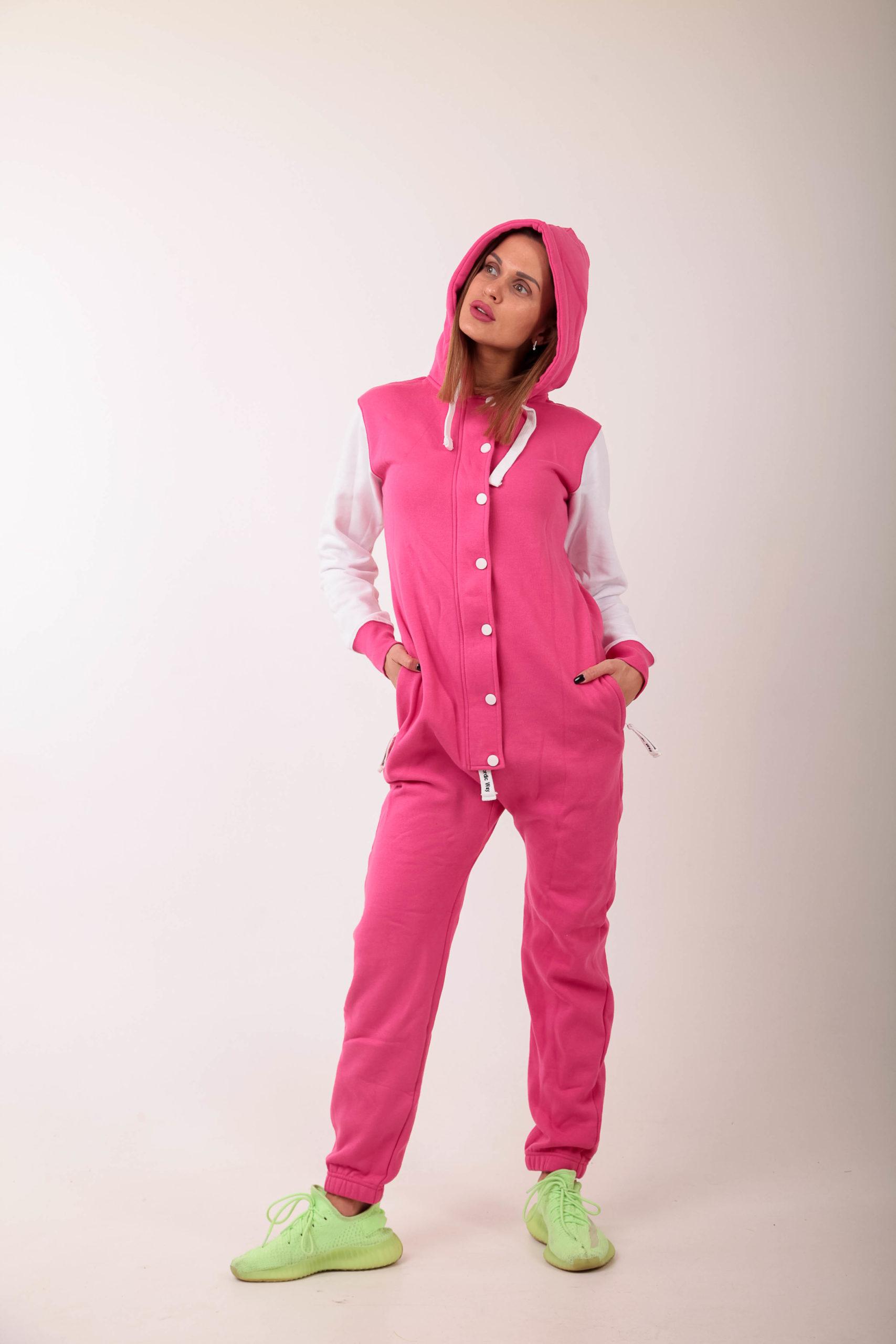 Jumpsuit Baseball Pink