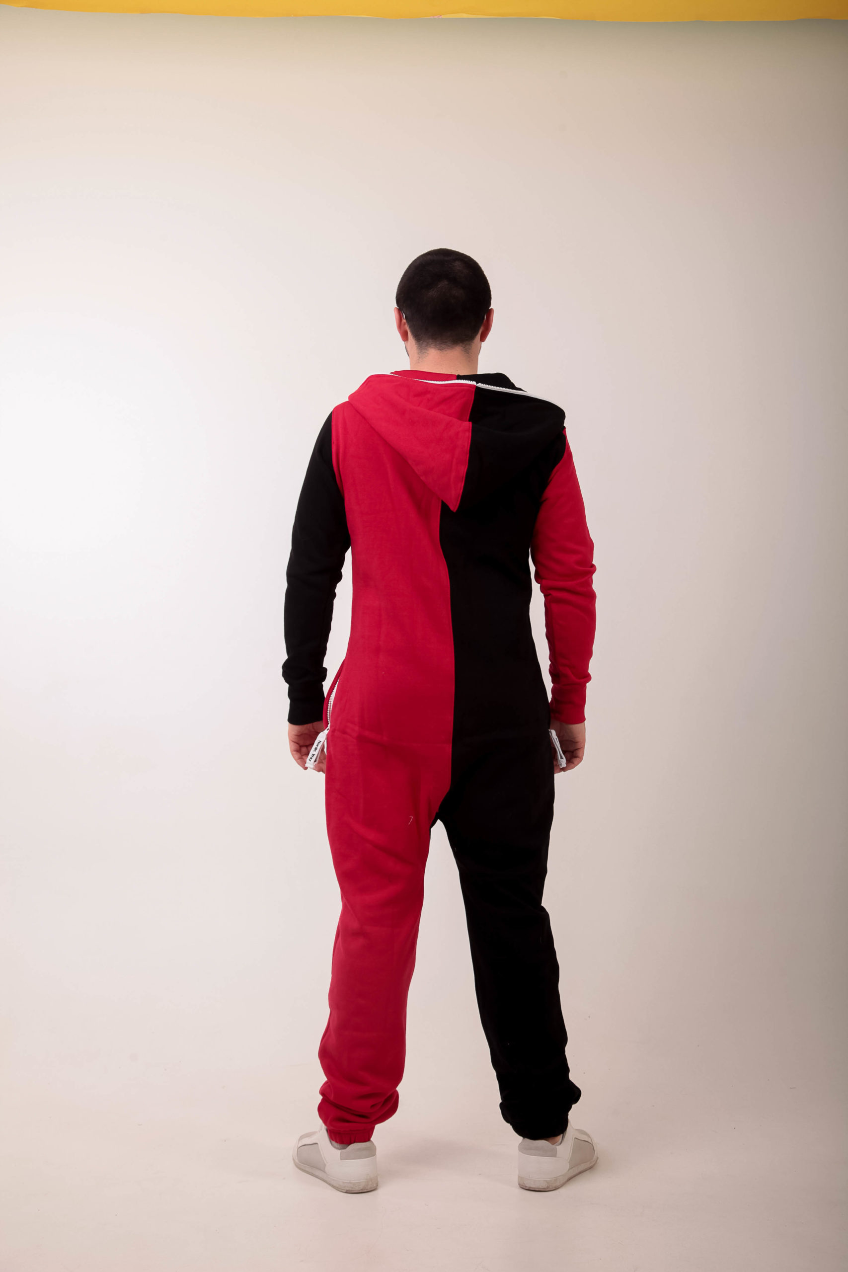 Jumpsuit Joker red + black