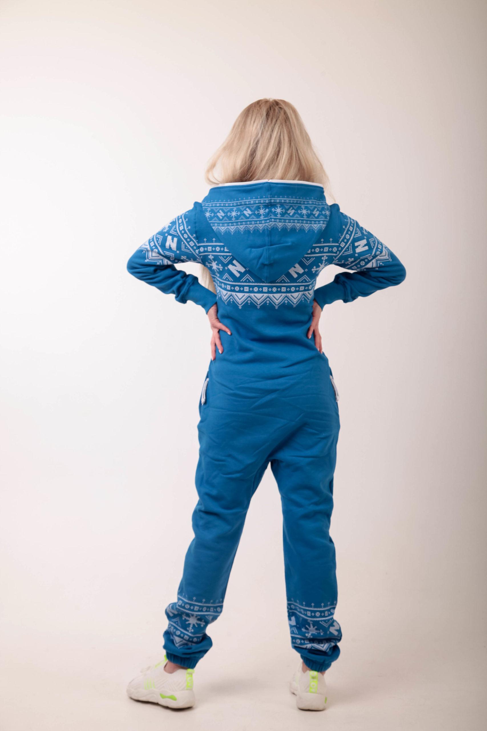Jumpsuit Winter Print Blue